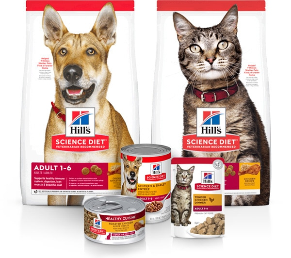 Hill´s Pet - Science Diet cat and dog Adult 1 - 6 products